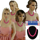 Bridesmaid Jewelry Hot Pink Graduated Lucite Beaded Necklaces For 3 4 6 or 8 Set