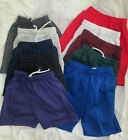 Boys Girls shorts jersey elastic band small med large xl blue red gray black NEW