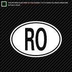country code ro - (2x) Romania Oval Sticker Die Cut country code RO many colors
