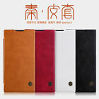 For Sony Xperia L1 Genuine Nillkin PU Leather Flip Slim Card Slots PC Cover Case