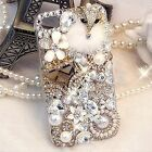 S*ACT apple iphone 5 6 back case w full  bling beads and lovely fox Glossy plain
