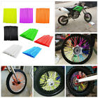 72PCS Universal Motocross Bike Dirt Enduro Wheel Rim Spoke Skins Wraps Covers