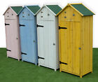 Woodside Wooden Sentry Box Beach Hut Outdoor Garden Storage Cupboard Tool Shed