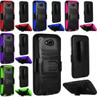 For LG X Power 2 Hard Silicone Hybrid Rubber Case Cover w/stand Holster