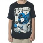 Batman Caped Crusador Boy's UV Black T-Shirt