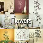Flower Wall Stickers! Giant Home Transfer Graphics / Floral Decal Decor Stencils