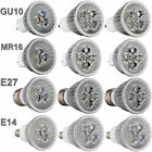 Ultra Bright Mr16/gu10/e27/e14 9w 12w 15w Dimmable Led Spotlight Bulbs Cree