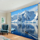 3D Snow water 6 Blockout Photo Curtain Printing Curtains Drapes Fabric Window AU