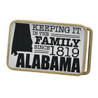 Buckle Rage Adult Unisex Keeping Family Alabama Embossed Rounded Belt Buckle