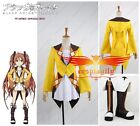 Anime Black Bullet Enju Aihara Dress Cosplay Costume Shoes Full Set Any Size
