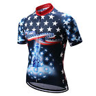 USA Team Men Racing Sport Cycling Jersey Tops mtb Bike Bicycle Cycling Clothing