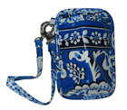 VERA BRADLEY TECH POCKET WRISTLET WRAP AROUND STRAP BLUE LAGOON BOYSENBERRY NEW
