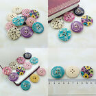 20/40Pcs Bulk stylish Wooden Sewing Buttons Scrapbooking 4 HoleS Overcoat