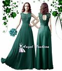 WHSJ Teal Lace Full Length Wedding Bridesmaid Party Prom Evening Dress UK 8 - 24