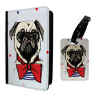 Dogs Spots Pug Bows Luggage Tag & Passport Holder - S953