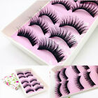 5/10 Pairs Natural Makeup Handmade Long Thick Cross False Eyelashes Eye Lashes
