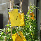 Large Area Yellow Hanging Sticky Glue Flying Pest Insect Trap Catchers Bug BL