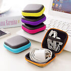 Zip Carrying Storage Case Pouch Bag for Earphone Headphone Earbud SD TF Cards
