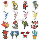 New Flower Embroidered Fabric Patches Applique Iron On Sew Clothing Peony DIY $0.99 USD