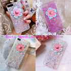 Cute Girly Bling Rubber Star Sequins Flower Sunshine Discoloration Glitter Cover