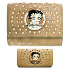 Betty Boop circle quilted Rhinestone wallet cross shoulder bag set purse party $36.56 USD