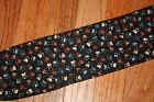 HEART PAWS ON BLACK male dog diaper,  4 layers, quilted,  size xs-xxxx