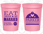 Personalized Wedding Stadium Cups Custom Cup(421) Eat Drink And Be Married