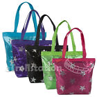 Girls Kids Youth Shine Sequin Stars Shoulder Dance Gymnastics Cheer Tote Bag