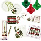 Talking Tables Vintage Holly Botanical Christmas Xmas Party Tableware Set Lot