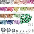 1000 Faceted Acrylic Round Flat Back Rhinestones 20 colors SS4-SS12 Non-HotFi