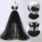 Tulle Formal Ball Prom Evening Gown Cocktail Wedding Long Masquerade Dress Black