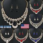 Womens Ladies Jewelry Set Mixed Style Bohemia Chain Necklace Earrings US Stock