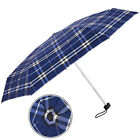 Summer Men Women Mini Pocket Plaid Folding Parasols Anti-UV Rain Sun Umbrella