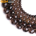 AAA Grade Natural Faceted Brown Smoky Quartz Beads Fashion Jewelry Making 15''