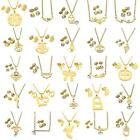 Fashion Stainless Steel Jewelry Gold Plated Crystal Sets, Earring & Necklace Set