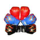 Children Kids FIRE Boxing Gloves Sparring Punching Fight Training Age 3-12 BL