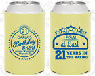 Personalized 21st Birthday Party Gifts Koozie (20167) Fin...