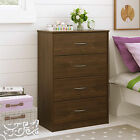 4 Drawer Dresser Chest Bedroom Furniture Storage Wood Drawers ASSORTED Colors