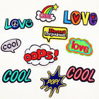 """BE COOL BE YOURSELF"" Letter Embroidered Small Patch Iron Sew On Applique Badge $0.99 USD"