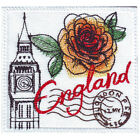 ENGLAND  STAMP EMBROIDERED PATCH