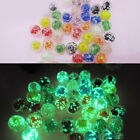 50/100Pcs Glaze Glass Luminous Charm Beads Necklace Bracelet Jewelry Craft DIY