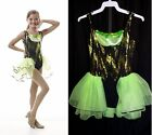 Look At Me Dance Costume Jazz Tap Leotard w/Back Skirt Clearance CS,CM,CL,AS