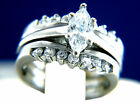 New Women's Stainless Steel Solitaire CZ Engagement Wedding Bridal Band Ring Set $17.0 USD on eBay