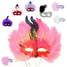 Carnival Mask Venetian Mask Costume Eye Mask Carnival Swinger Feather 60s