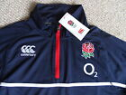 S M L  ENGLAND RUGBY NAVY TRAINING TOP  CANTERBURY NZ Tags Lightweight