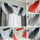 JEWELLED CRYSTAL SPARKLE VOILE SWAG READY MADE SEQUIN TRIM CURTAIN PANEL