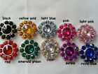 Rhinestone with color crystal 22mm metal...