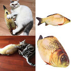20/40CM Soft Pet Kitten Cat Fish Shape Mint Stuffed Simulation Playing Plush Toy