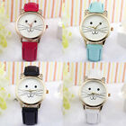 2017 Womens Casual Watch Ladies Faux Leather Band Students Wrist Watches