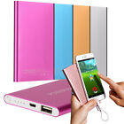 Ultrathin 12000mAh USB External Battery Charger Power Bank For Smartphone +Cable